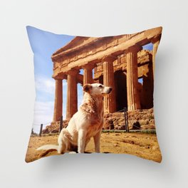 Majestic Dog for a Majestic View Throw Pillow