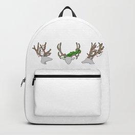 Christmas Reindeer Wreath Backpack