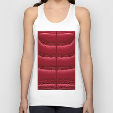 Abstract Red Quilt    Unisex Tank Top