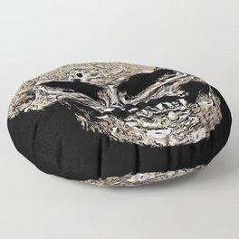 Full Skull With Rotting Flesh Vector Floor Pillow
