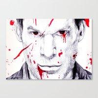 dexter Canvas Prints featuring Dexter by DeMoose_Art