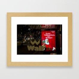 Christmas in berlin Framed Art Print