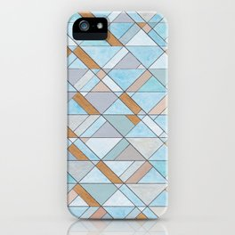 Shifting Pattern Turquoise and Gold iPhone Case