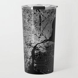 Detroit map  Travel Mug