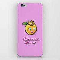 princess peach iPhone & iPod Skins featuring Princess Peach by Sam Pea