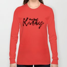 Pink Kitty Camo Long Sleeve T-shirt
