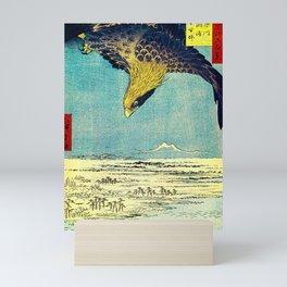 Hiroshige, Hawk Flight Over Field Mini Art Print