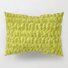 Yellow Bubble Row Textile Photo Art Pillow Sham