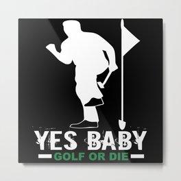 Golf Golfer Golf Club Golf Ball Metal Print