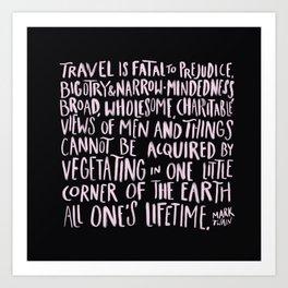 Travel - Twain Art Print