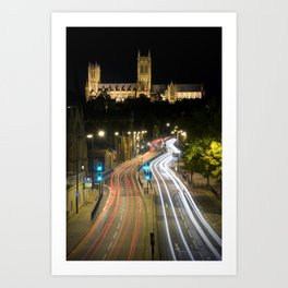 Lincoln Cathedral Trails Art Print