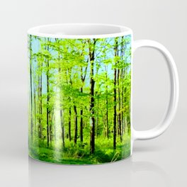 Sky Blue Morning Forest Coffee Mug
