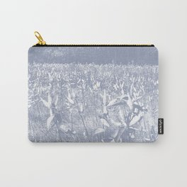 Milkweed Field_Slate Blue Carry-All Pouch