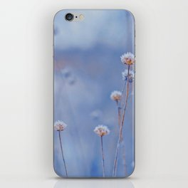 Wild White Flowers Against A Purple Background iPhone Skin