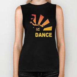 dancing couple silhouette - brazilian zouk Biker Tank