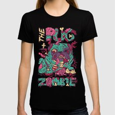 The Pug zombie SMALL Black Womens Fitted Tee