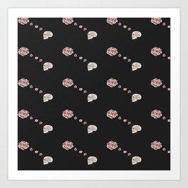 Flourish black pattern Art Print