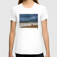 surfboard T-shirts featuring Orange Surfboard by PACIFIC OBLIVION