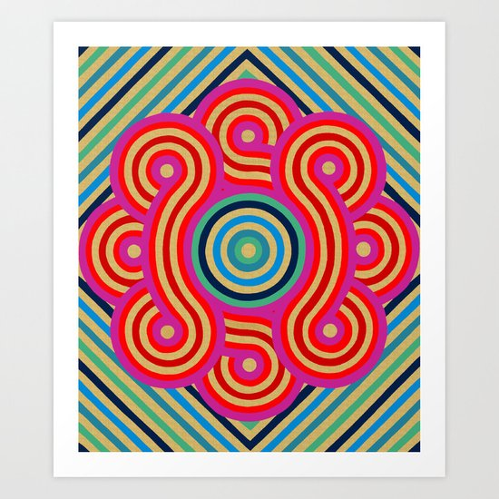 Cosmic Vibrations Within Art Print