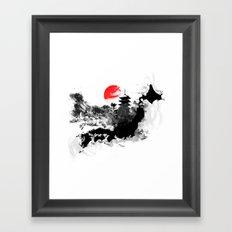 Abstract Kyoto - Japan Framed Art Print