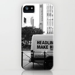 New York Post Truck, Manhattan iPhone Case