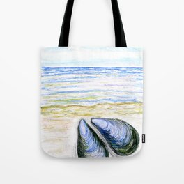 Blue mussel Tote Bag