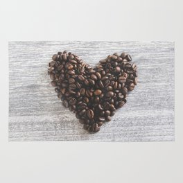 Coffee beans heart Rug