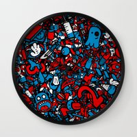 sketch Wall Clocks featuring Sketch by Mikhail St-Denis