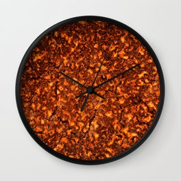 Lava texture Wall Clock