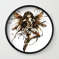 fairy Wall Clocks featuring fairy by Vector Art