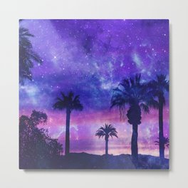 Palm Beach Galaxy Universe Watercolor Metal Print