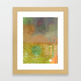 watercolor reflection Framed Art Print