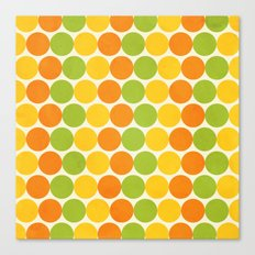 Zesty Polka Canvas Print