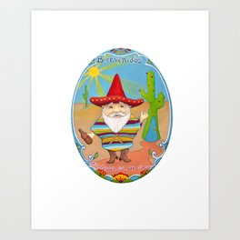 Mexican Gnome Art Print