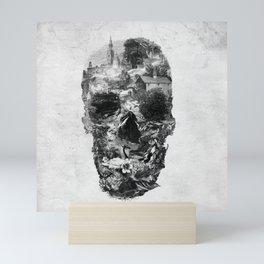 Town Skull B&W Mini Art Print