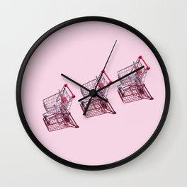Shopping Carts Wall Clock