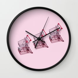 Shopping Carts Wall Clock
