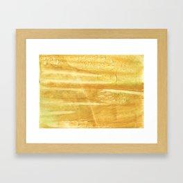 Sandy brown hand-drawn aquarelle Framed Art Print
