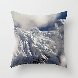 Mountaintop from Upper Pisang Throw Pillow