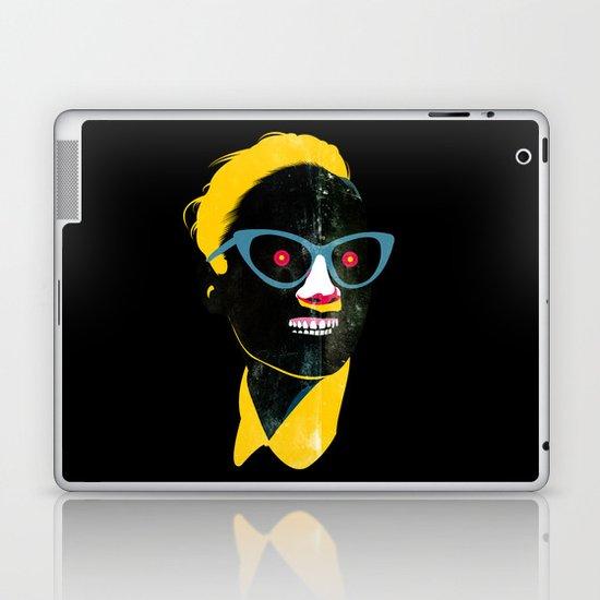 Smile in black Laptop & iPad Skin