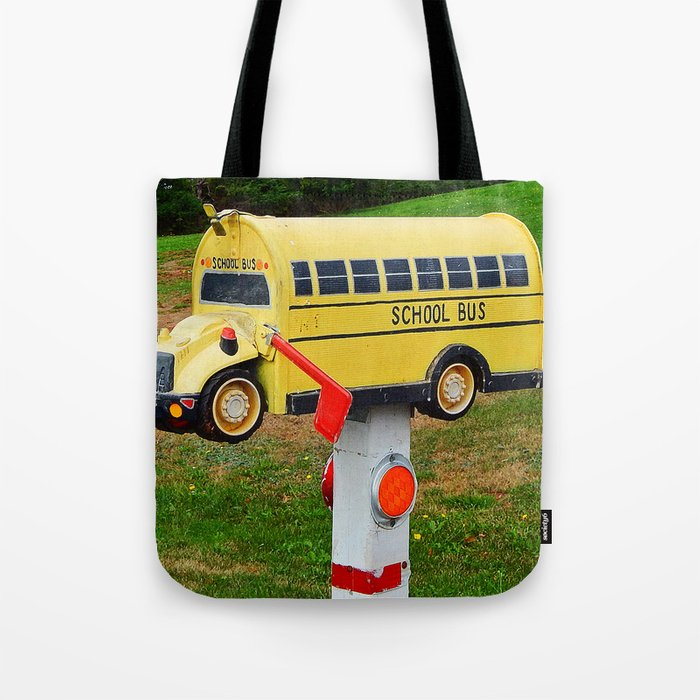 School Bus Mailbox Tote Bag