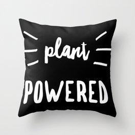 Plant Powered Vegan Animal Welfare Throw Pillow