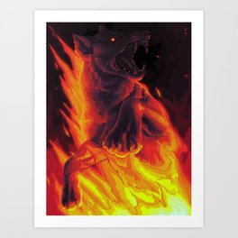 the devil says Art Print