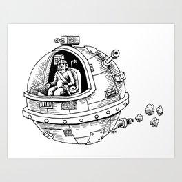 Yeti in Space Art Print