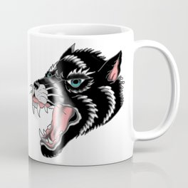 Traditional Wolf Tattoo Coffee Mug