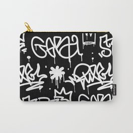 Black and White Graffiti Carry-All Pouch