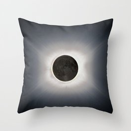Total Eclipse by  OLena Art Throw Pillow