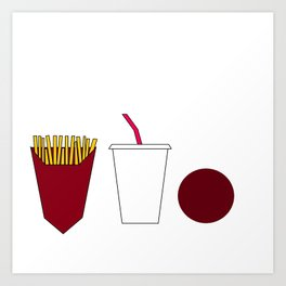 Aqua teen hunger force minimalist  Art Print