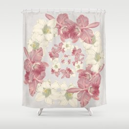 Pink and white floral Shower Curtain