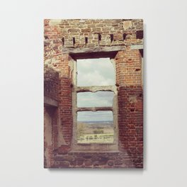 Mansion Window Metal Print